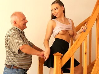 old & young blowjob